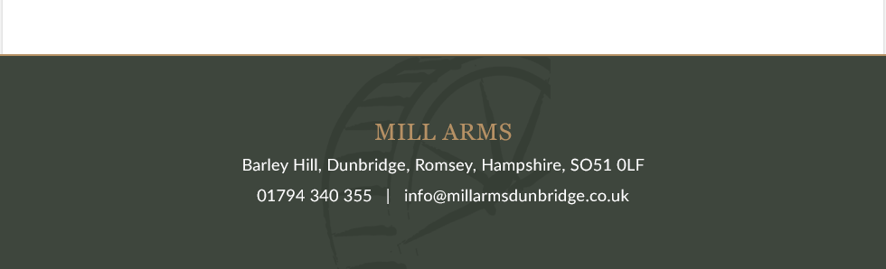 Thanks for visiting Mill Arms